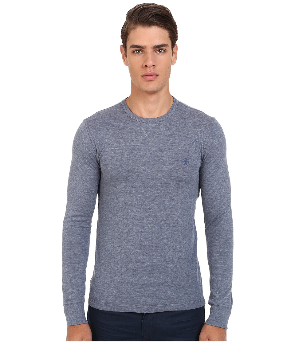 Original Penguin - Reversible Long Sleeve Tee (Flint Stone) Men's Clothing