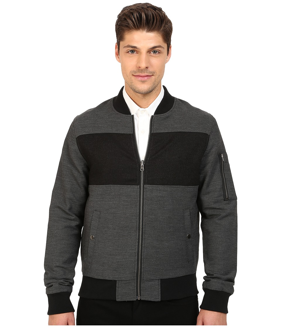 Original Penguin - Pieced Bomber Jacket (Asphalt) Men's Coat
