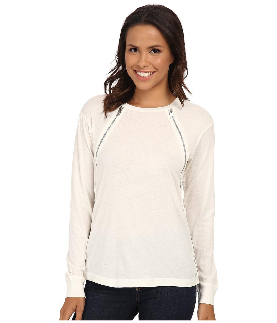 Diesel - T-Pervin-Long Sleeve Pullover (Smoke/Grey) Women's Long Sleeve Pullover