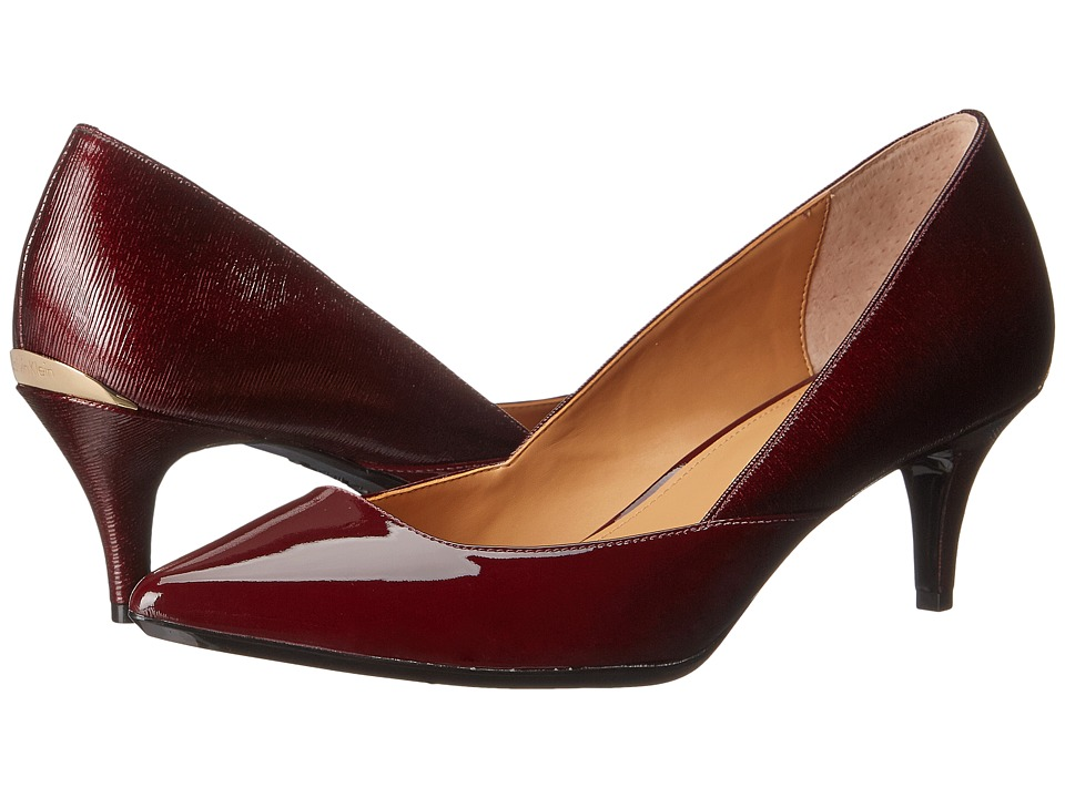Calvin Klein - Patna (Dark Cherry Patent) Women's 1-2 inch heel Shoes