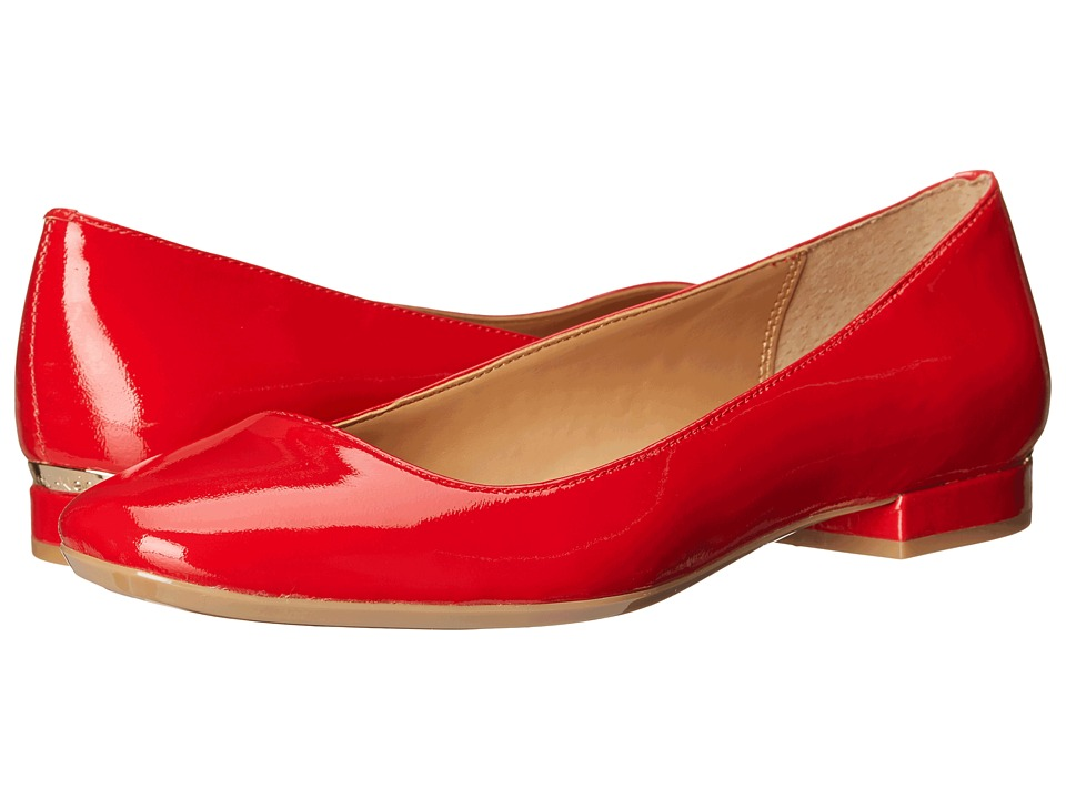 Calvin Klein - Felice (Lipstick Red Patent) Women's Flat Shoes