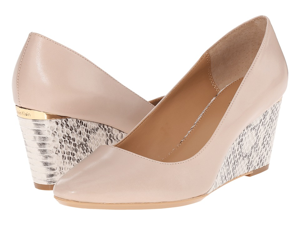 Calvin Klein - Pippa (Cocoon Leather) Women's Wedge Shoes