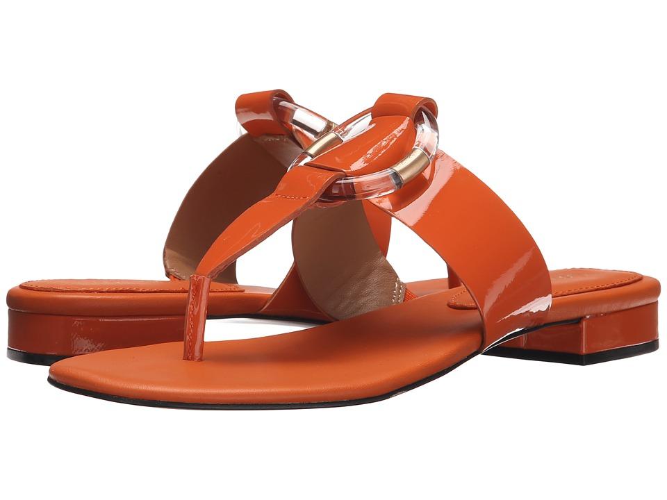 Calvin Klein - Aiden (Tangerine Patent) Women's Sandals