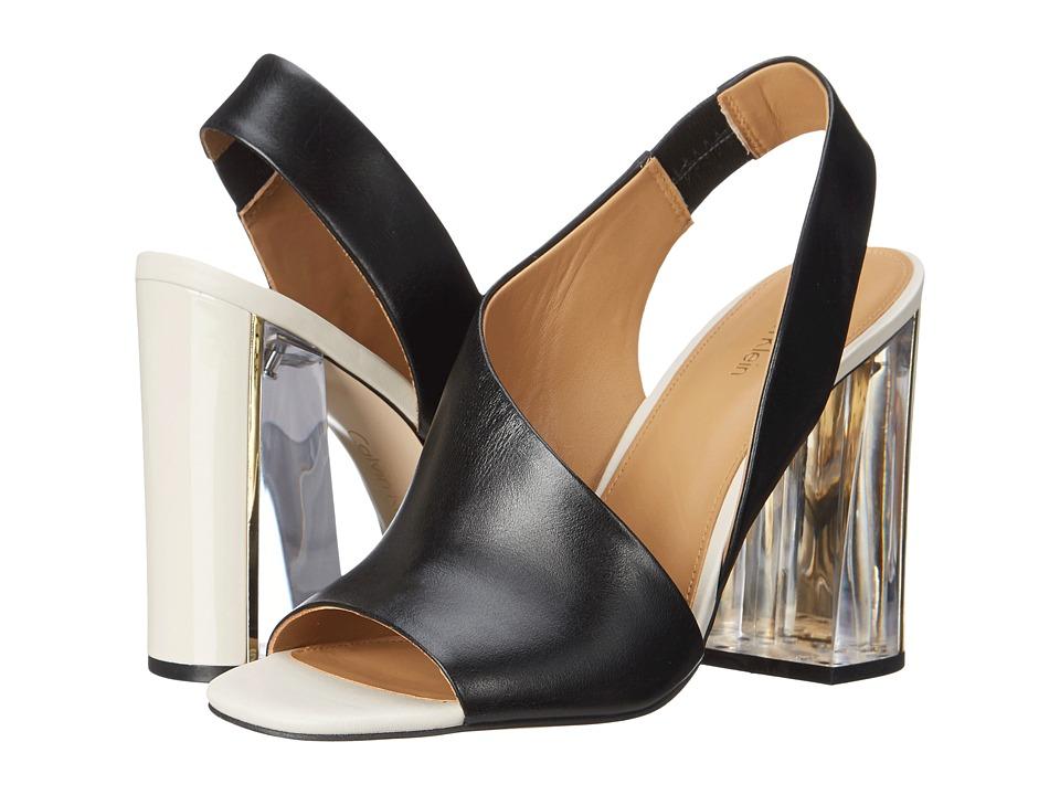 Calvin Klein - Linnette (Black Leather) High Heels