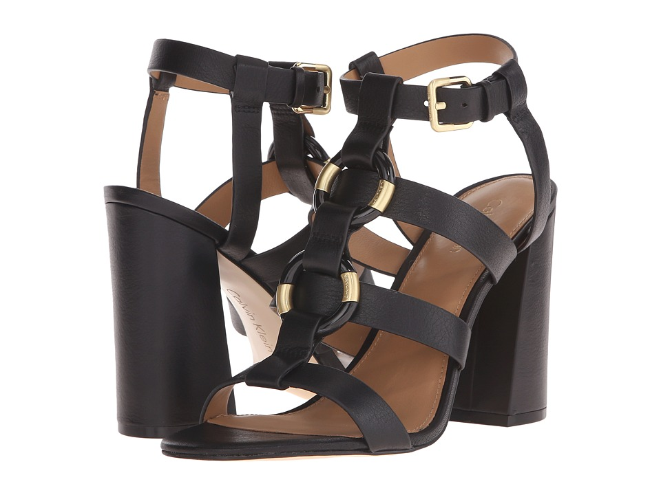 Calvin Klein - Lindy (Black Leather) High Heels
