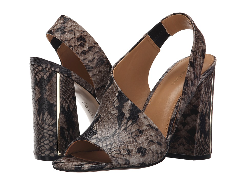 Calvin Klein - Linnette (Natural Snake Print Leather) High Heels