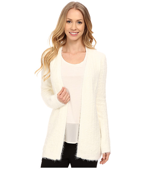 Calvin Klein - Eyelash Open Cardigan (Soft White) Women's Sweater