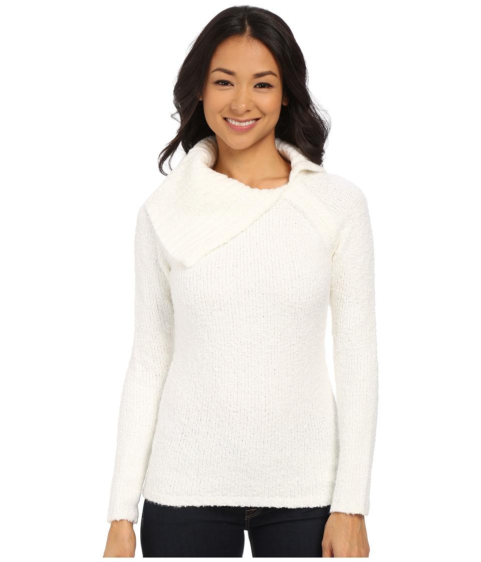 Calvin Klein - Open Cowl Neck Sweater (Soft White) Women