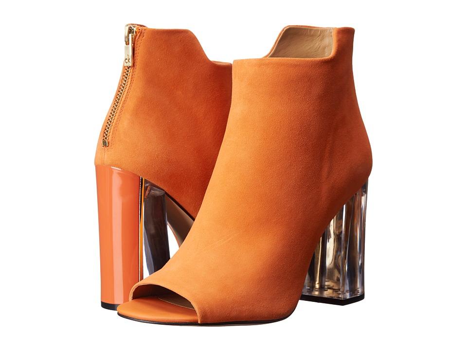 Calvin Klein - Lulah (Tangerine Suede) High Heels