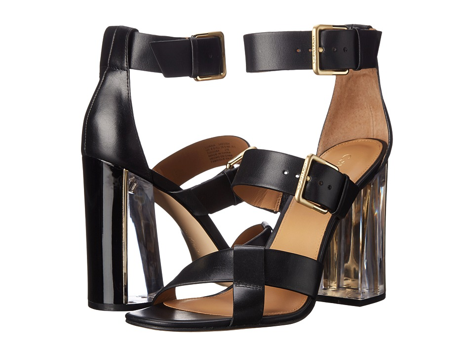 Calvin Klein Luana (Black Leather) High Heels