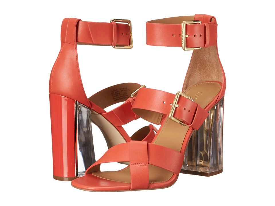Calvin Klein Luana (Deep Coral Leather) High Heels