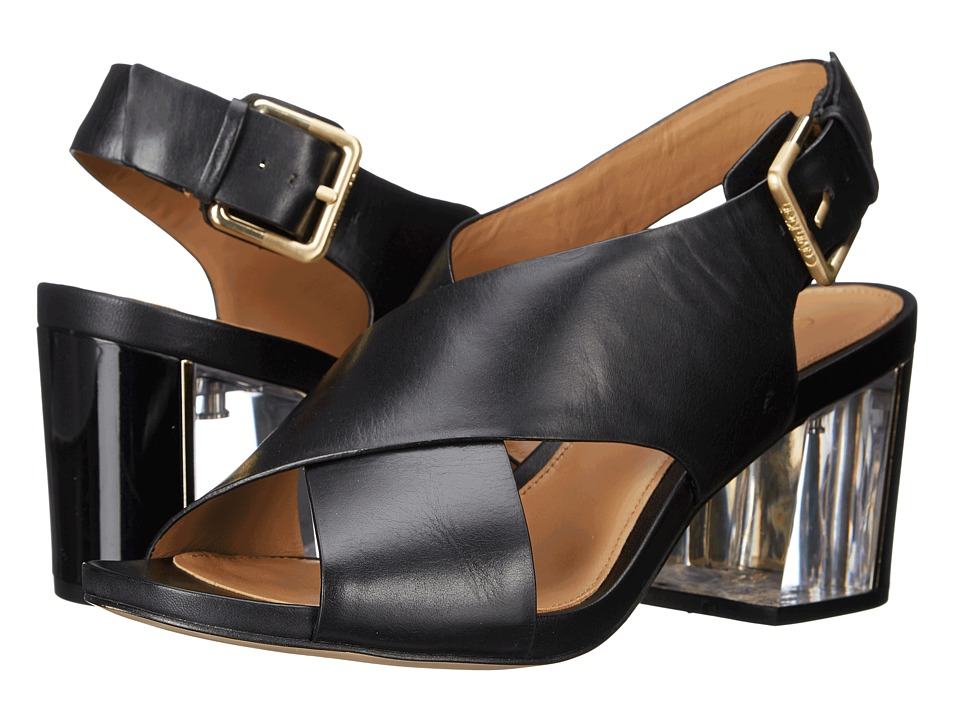 Calvin Klein - Loni (Black Leather) High Heels
