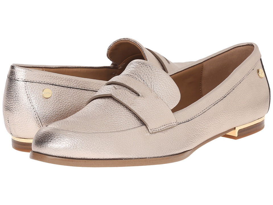 Calvin Klein - Celia (Soft Platinum Metallic Grain Leather) Women's Shoes