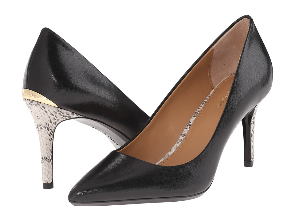 Calvin Klein - Gayle (Black Leather) High Heels