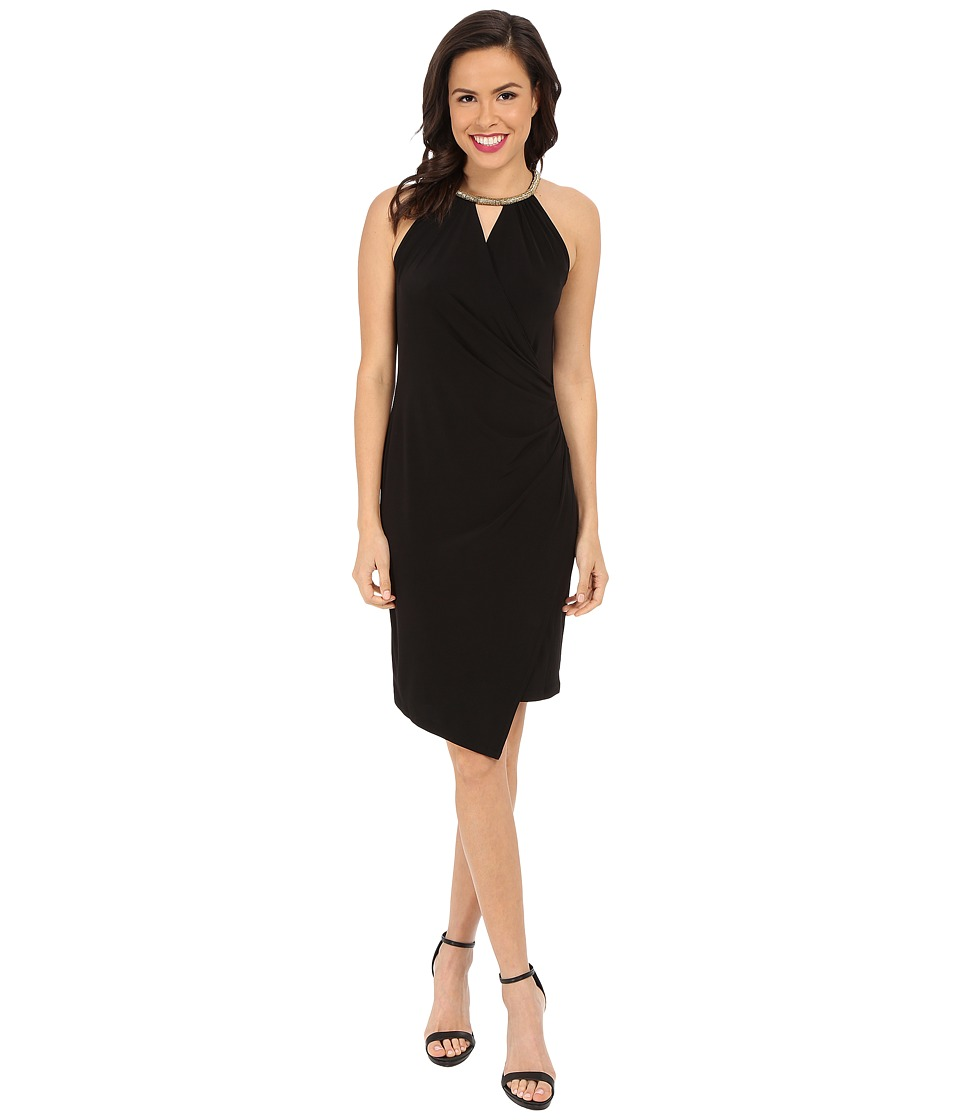 Calvin Klein - Dress with Rope Neck Detail (Black) Women's Dress