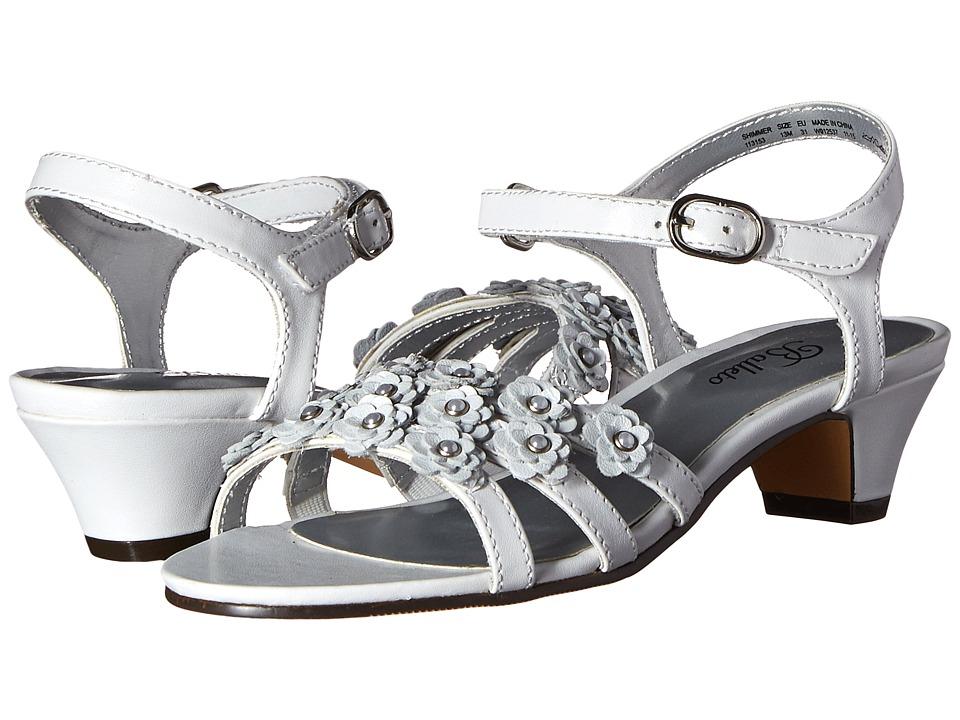 Jumping Jacks Kids - Balleto - Shimmer (Little Kid/Big Kid) (White) Girls Shoes