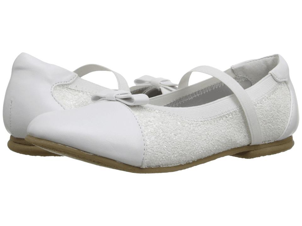 Jumping Jacks Kids - Balleto - Destiny II (Toddler/Little Kid/Big Kid) (White/Glitter) Girls Shoes