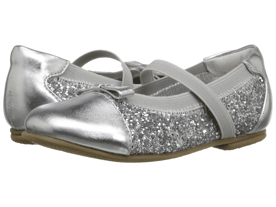 Jumping Jacks Kids - Balleto - Destiny II (Toddler/Little Kid/Big Kid) (Silver Metallic Glitter) Girls Shoes