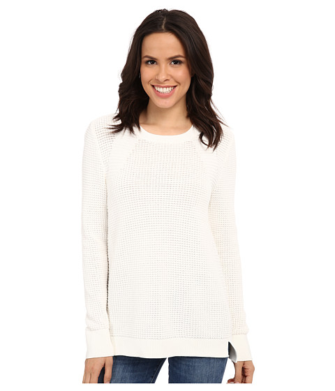 Calvin Klein - Waffle Stitch Crew Neck (Soft White) Women