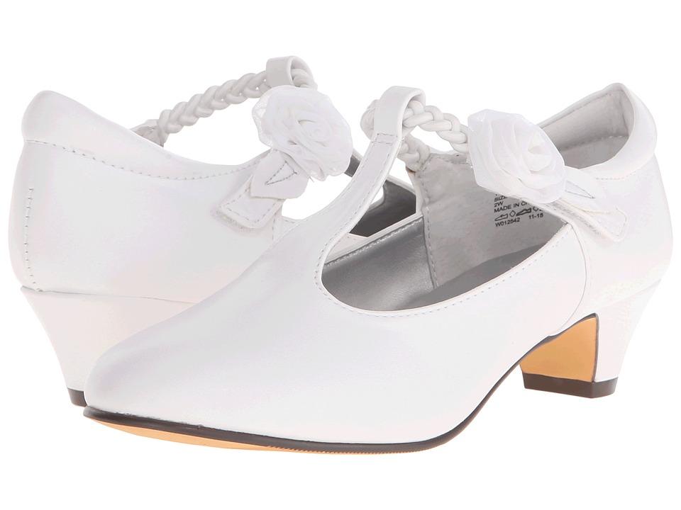 Jumping Jacks Kids - Balleto - Kate (Little Kid/Big Kid) (White Smooth) Girls Shoes