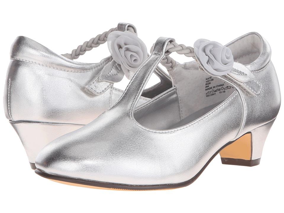 Jumping Jacks Kids - Balleto - Kate (Little Kid/Big Kid) (Silver Metallic) Girls Shoes