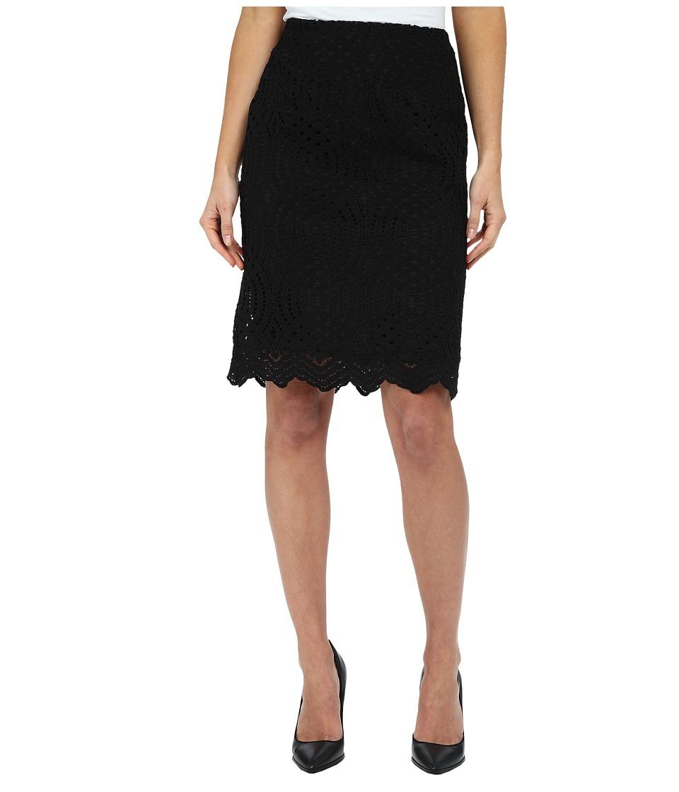 Calvin Klein - Lace Pencil Skirt (Black) Women's Skirt plus size,  plus size fashion plus size appare