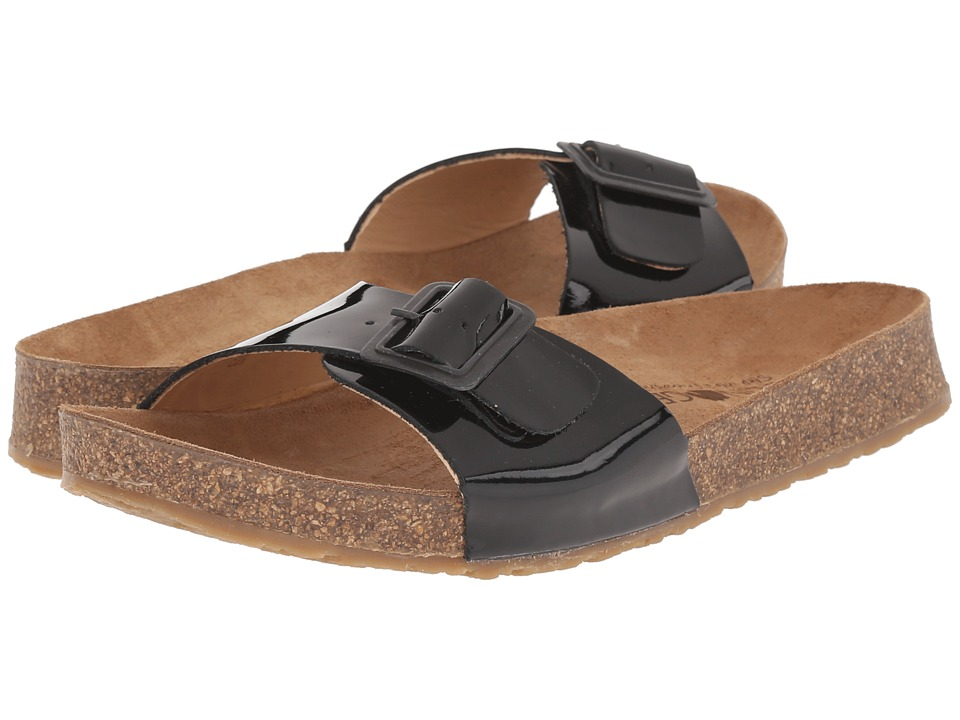 Haflinger - Gina (Black Patent) Women's Sandals