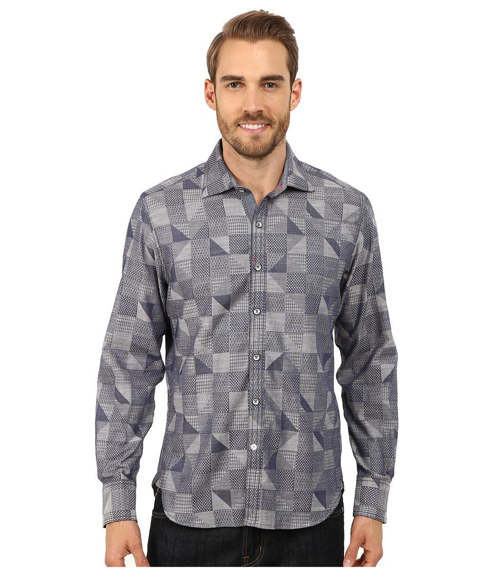 Robert Graham - Trim Castle Long Sleeve Woven Shirt (Navy) Men