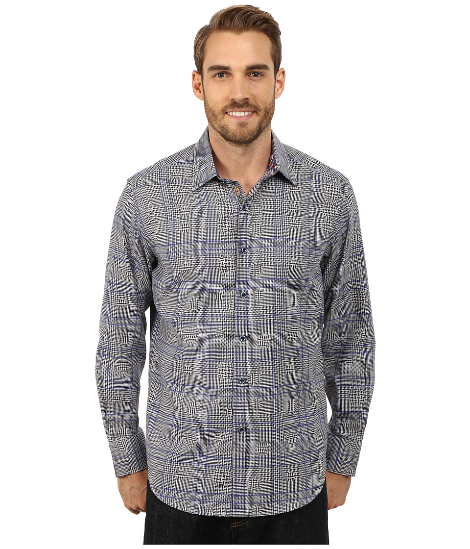 Robert Graham - London Eye Long Sleeve Woven Shirt (Blue) Men's Long Sleeve Button Up
