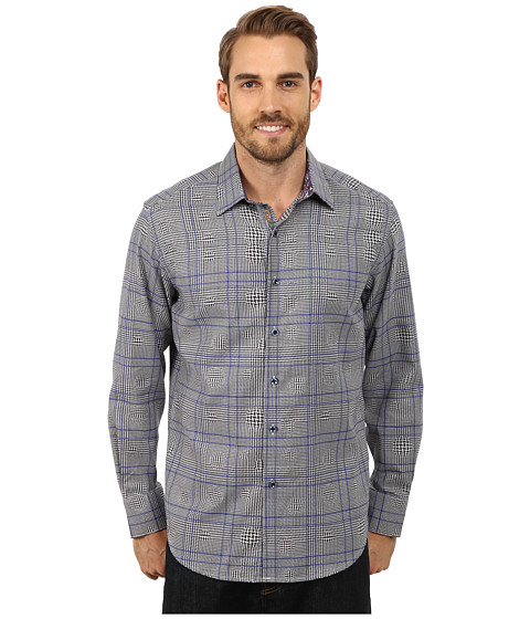 Robert Graham - London Eye Long Sleeve Woven Shirt (Blue) Men