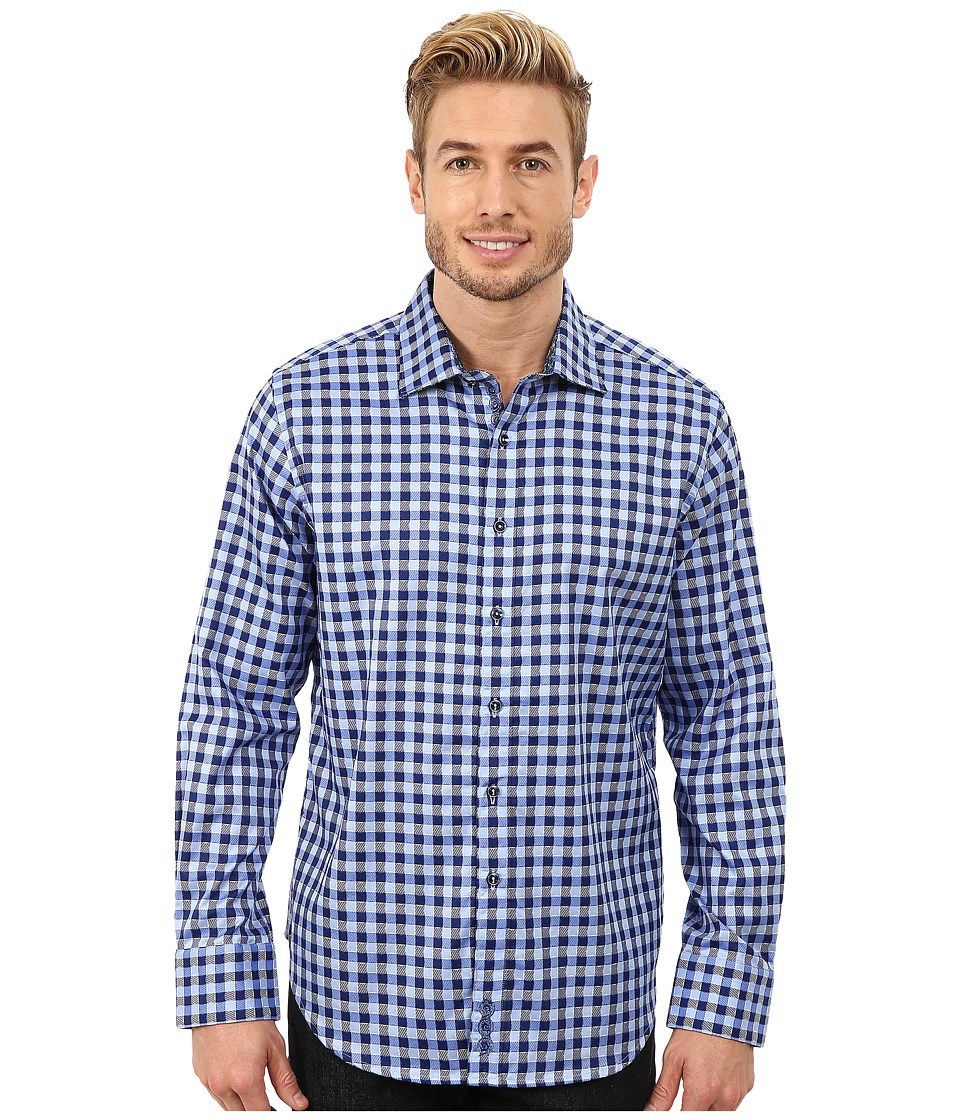 Robert Graham - Dartmoor Long Sleeve Woven Shirt (Blue) Men's Long Sleeve Button Up