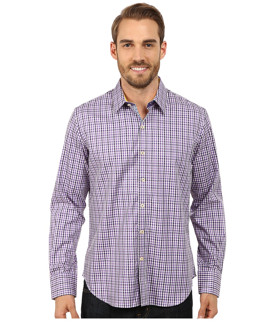 Robert Graham - Davies Long Sleeve Woven Shirt (Purple) Men