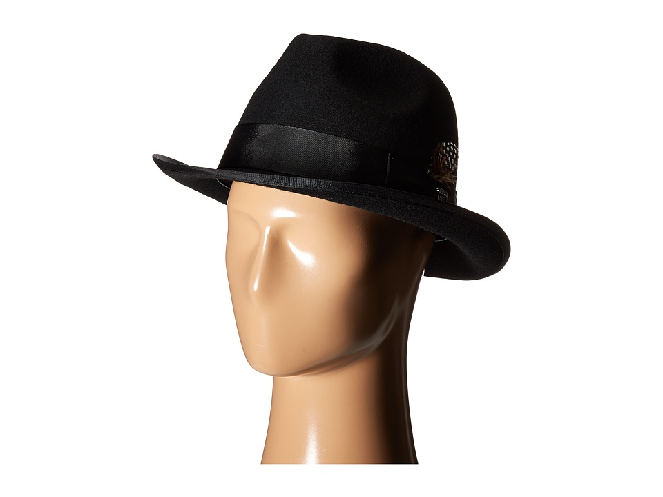 Stacy Adams - Wool Homburg Hat (Black) Caps
