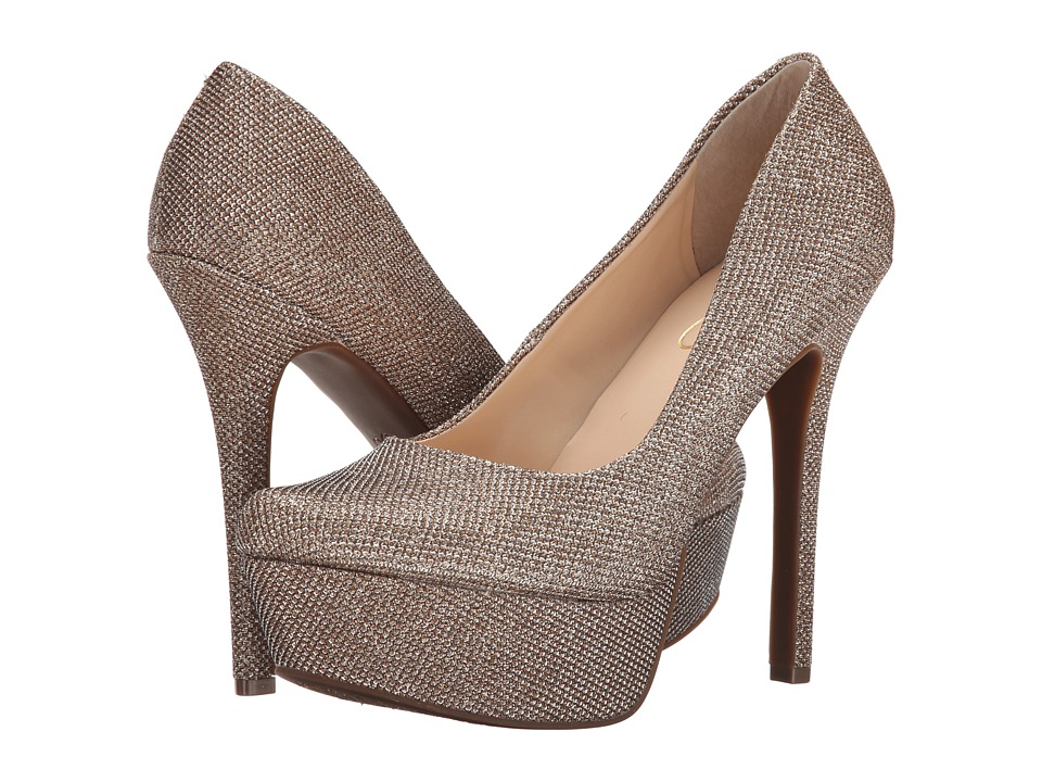 Jessica Simpson - Waleo (Gold Sparkle Mesh) High Heels