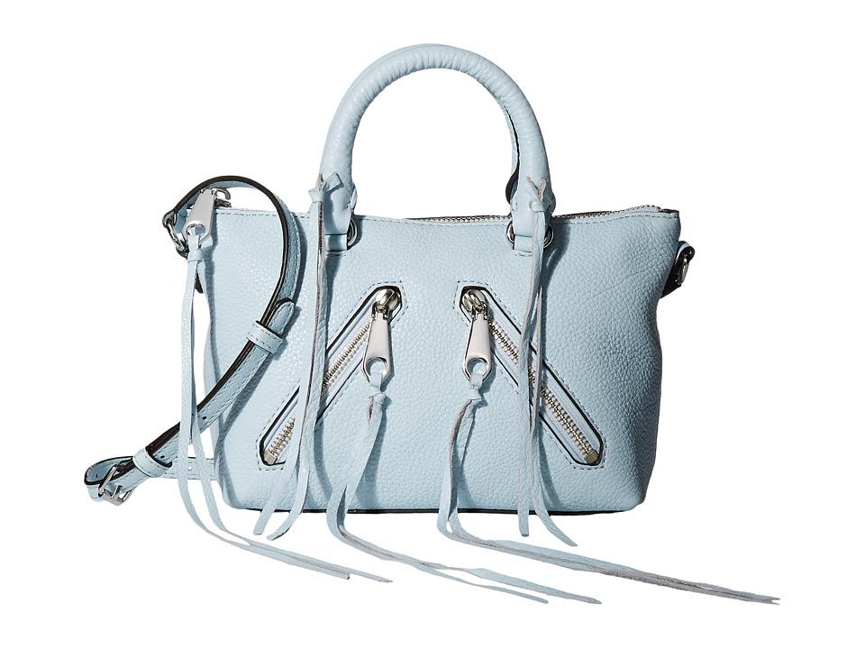 Rebecca Minkoff - Micro Moto Satchel (Bleached Blue) Satchel Handbags