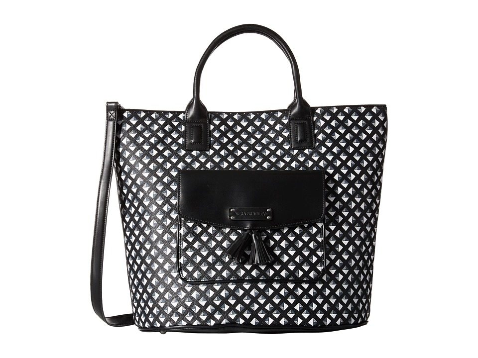 Vera Bradley - Tassel Tote (Black/White Studs) Tote Handbags