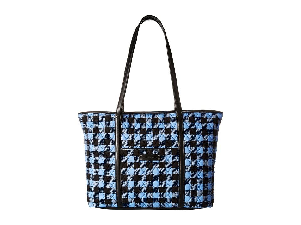 Vera Bradley - Trimmed Vera Laptop Tote (Alpine Check/Black) Tote Handbags