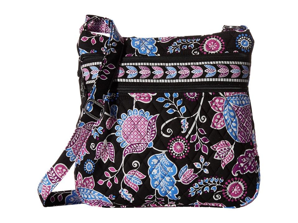 Vera Bradley - Triple Zip Hipster (Alpine Floral) Cross Body Handbags