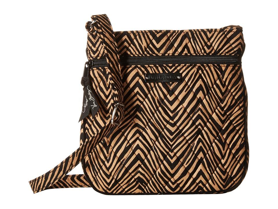 Vera Bradley - Petite Double Zip Hipster (Zebra) Handbags