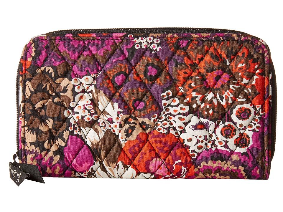 Vera Bradley - Accordion Wallet (Rosewood) Wallet Handbags