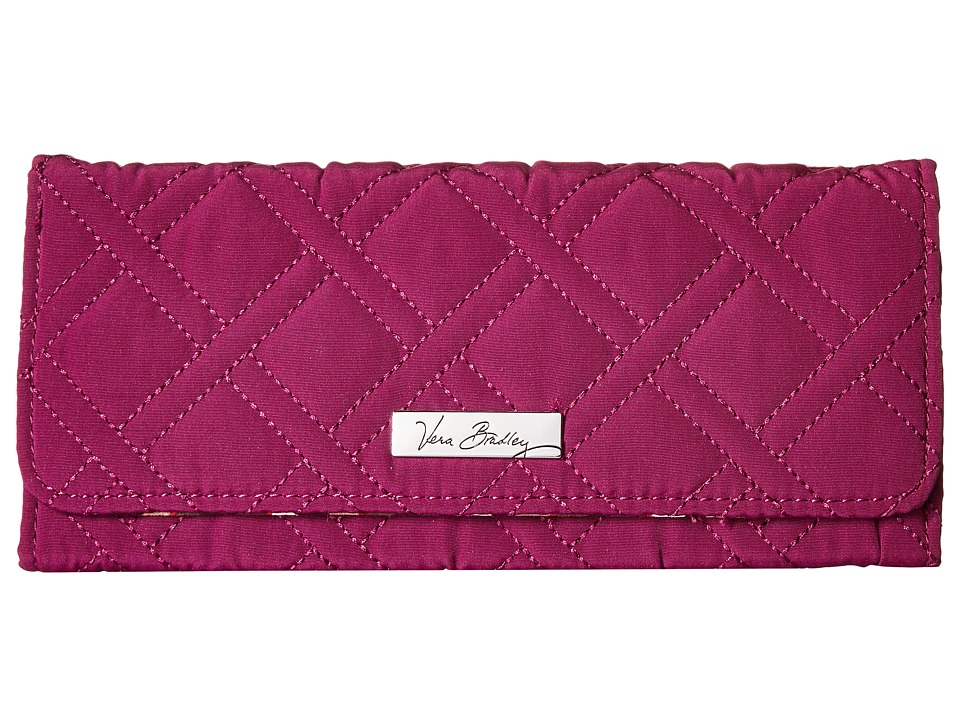 Vera Bradley - Trifold Wallet (Plum) Wallet Handbags