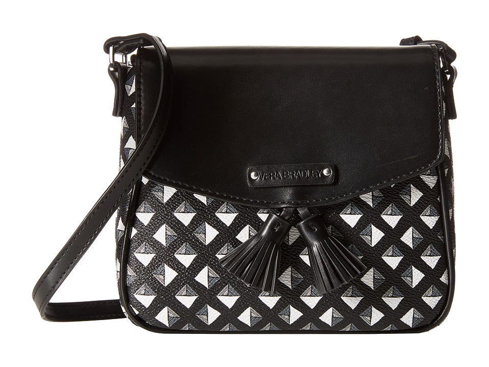 Vera Bradley - Tassel Crossbody (Black/White Studs) Cross Body Handbags