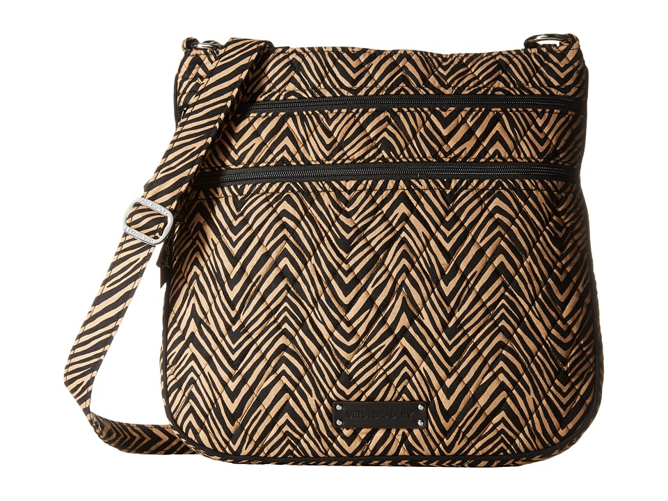 Vera Bradley - Triple Zip Hipster (Zebra) Cross Body Handbags
