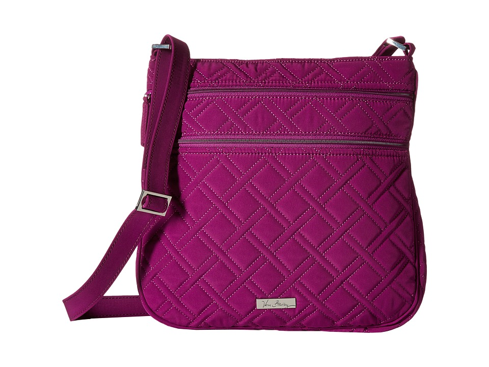 Vera Bradley - Triple Zip Hipster (Plum) Cross Body Handbags