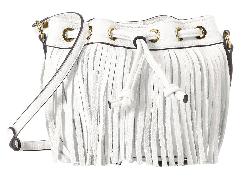 Rebecca Minkoff - Fringe Micro Lexi Bucket (White) Handbags