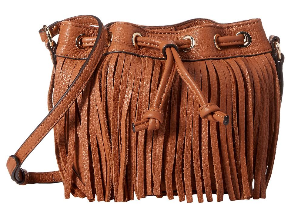 Rebecca Minkoff - Fringe Micro Lexi Bucket (Almond) Handbags