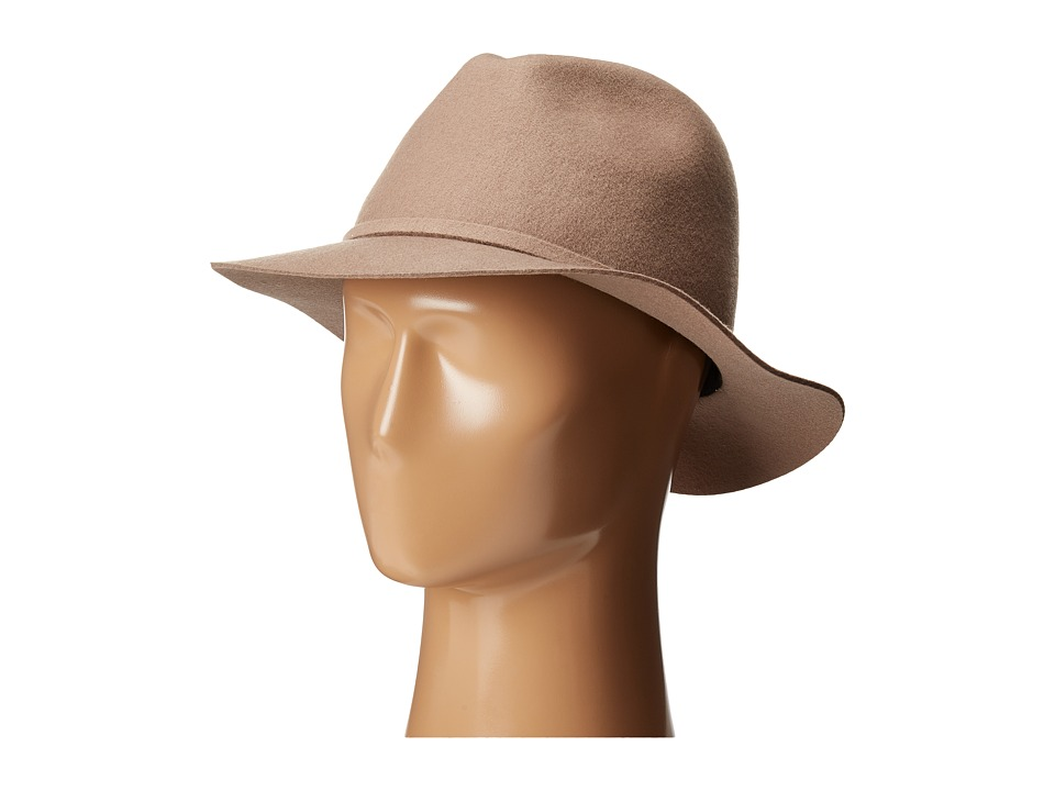 Woolrich - Crushable Wool Safari with Raw Edge (Taupe) Caps
