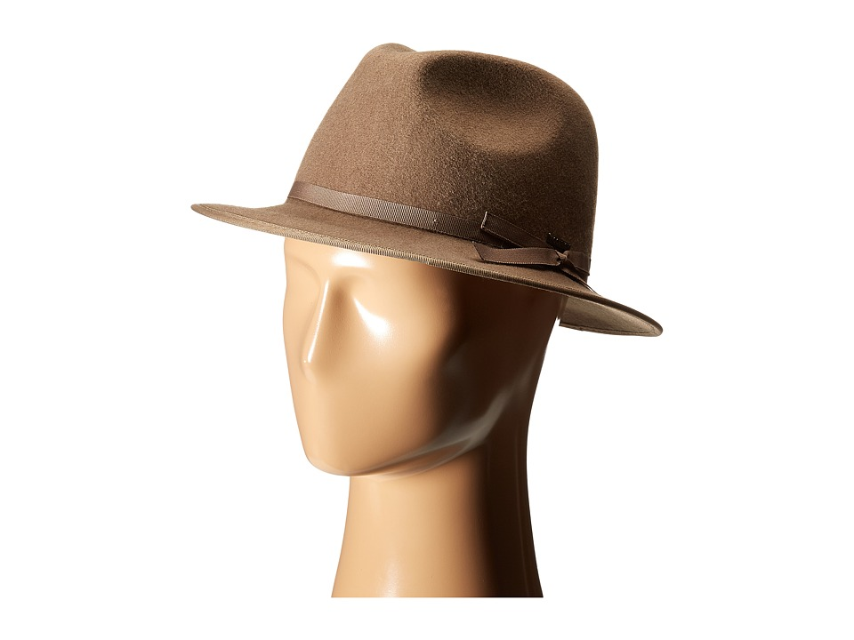 Woolrich - Crushable Wool Outdoorsman Hat with Water Repellent (Taupe) Caps