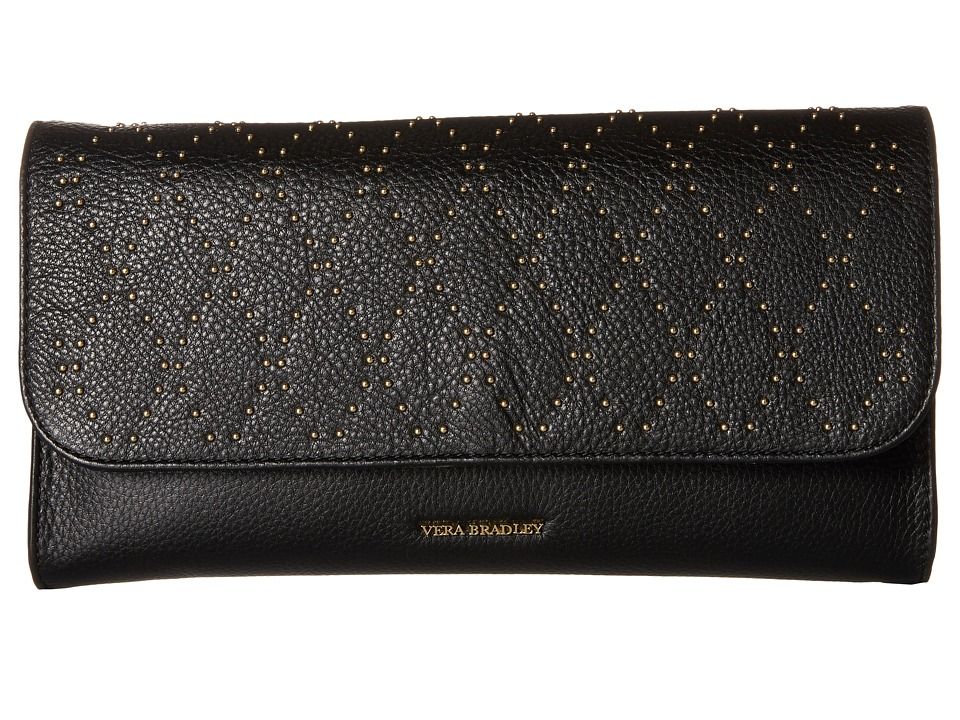 Vera Bradley - Micro-Stud Harper Clutch (Black/Gold Tone) Clutch Handbags