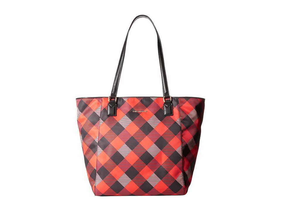 Vera Bradley - Ella Tote (Buffalo Check Burnt Orange/Black) Tote Handbags